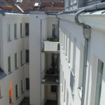 Вид с балкона на внутренний двор