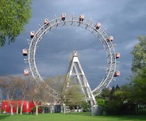 Колесо обозрения в парке Пратер